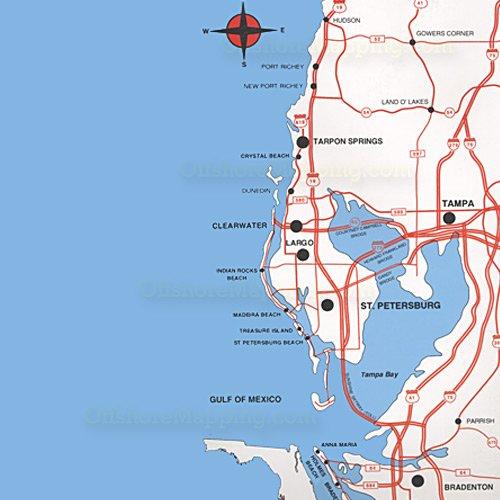 Top Spot Fishing Map N202, Tampa Bay Area
