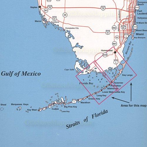 Key Largo Florida Map.Top Spot Fishing Map N207 Florida Bay Upper Keys Area
