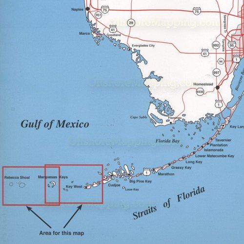 Spot Fishing Map N209 Lower Keys Area