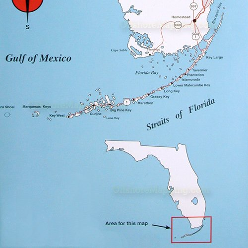 Top Spot Fishing Map N210, South Florida Offshore
