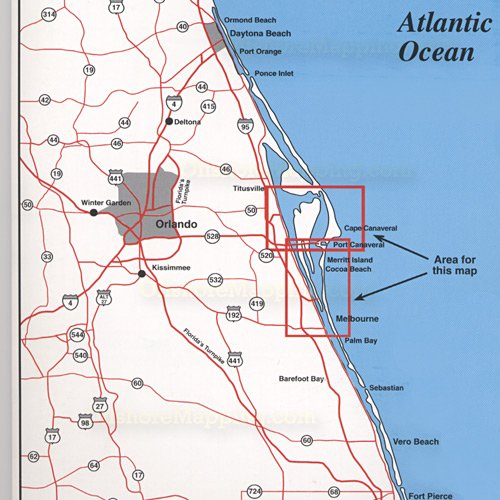 Top Spot Fishing Map N218, Cape Canaveral Area