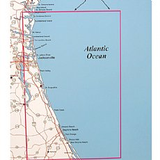 Map Of Northeast Florida.Top Spot Fishing Map N227 Northeast Florida South Georgia Offshore