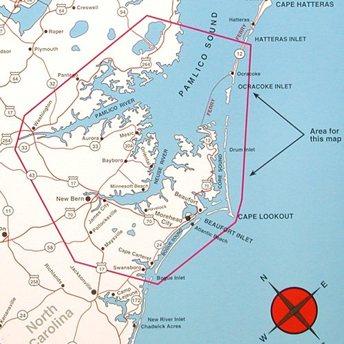 Top Spot Map N239 North Carolina Inshore Pamlico Sound To Morehead