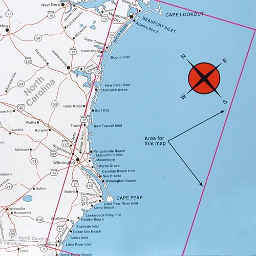 Top spot map n241 north carolina offshore cape fear to for Fishing spots in nc
