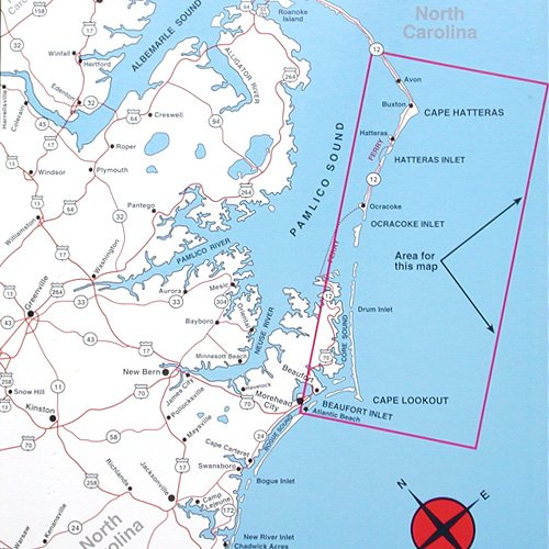 Top Spot Map N242, North Carolina Offshore, Cape Hatteras to Cape