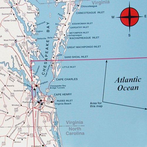 Coastal Virginia Map.Top Spot Virginia Coast Pro Pack N244 N245 N246