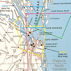 Top Spot Map N246 Virginia Chesapeake Bay James River Inshore