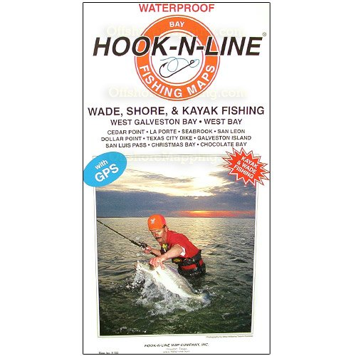 Hook n line fishing map f103 west galveston bay for Free fishing catalogs