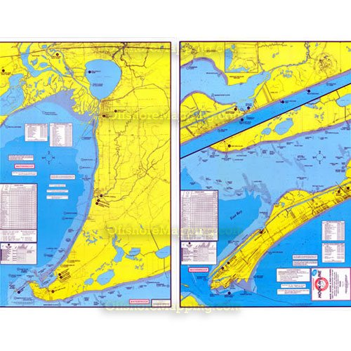 Hook And Line Maps Hook N Line Fishing Map F104, East Galveston Bay