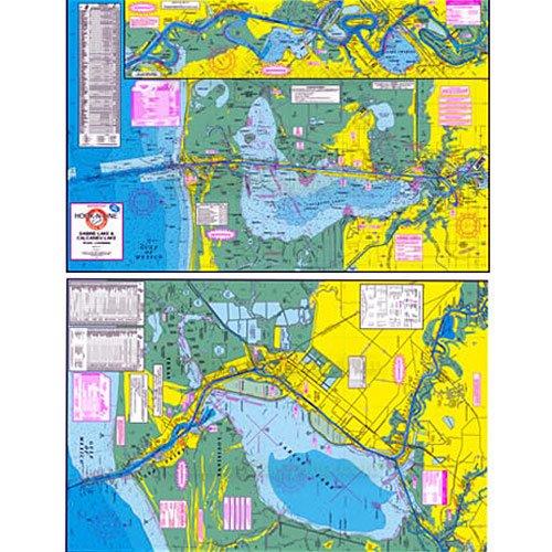 Hook-N-Line Fishing Map F118, Sabine, Calcasieu Lake