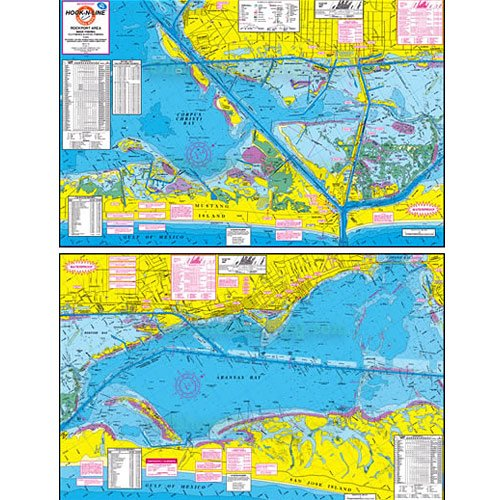 Hook And Line Maps Hook N Line Fishing Map F130, Rockport Wade Fishing, Kayak Fishing Map