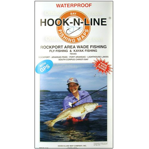 Hook-N-Line Fishing Map F130, Rockport Wade Fishing, Kayak Fishing Map