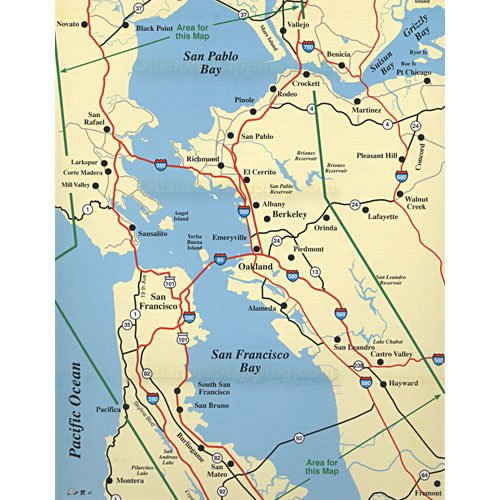 Hook n line fishing map f203 san francisco bay area for Bay area fishing