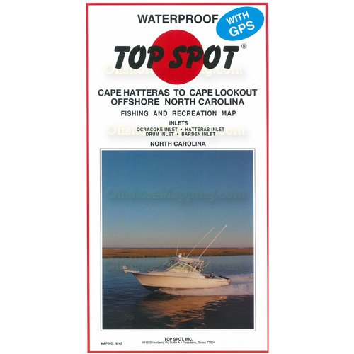 Top Spot Map N242 North Carolina Offs Cape Hatteras To Cape Lookout