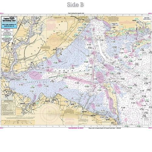 Nyh114 New York Harbor Raritan Bay New Jersey Hudson River Raritan Bay Ins
