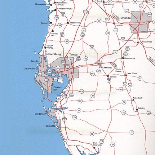 Top spot fishing map n205 homossassa to everglades city for Everglades city fishing