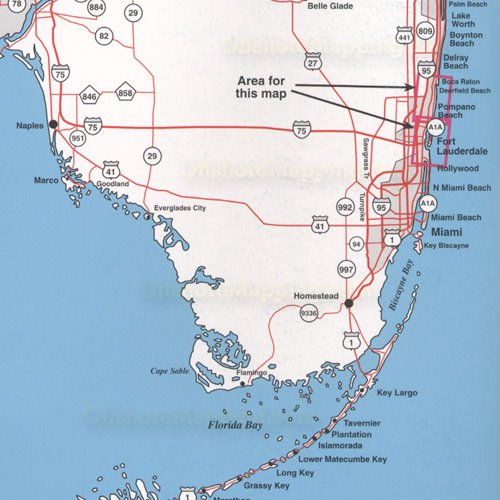 Top spot fishing map n212 fort lauderdale area for Fishing spots in fort lauderdale