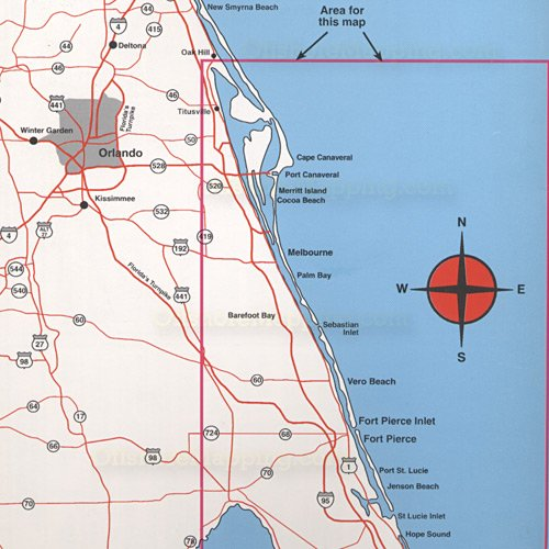 Top spot fishing map n220 east florida offshore for Best fishing spots in florida