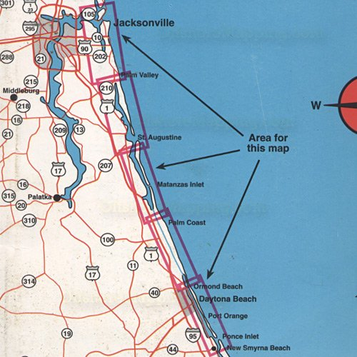 Top spot fishing map n221 daytona beach to jacksonville for Matanzas inlet fishing
