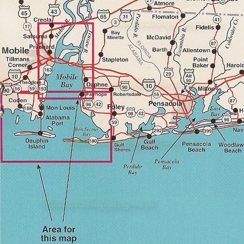 Top spot fishing map n222 mobile bay area for Bay area fishing