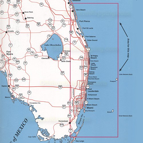 Top spot fishing map n224 florida miami winter beach for Best fishing spots in florida
