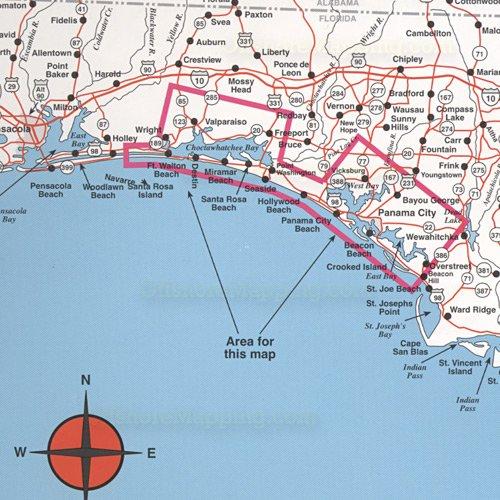 Top spot fishing map n225 destin to panama city for Destin fl fishing