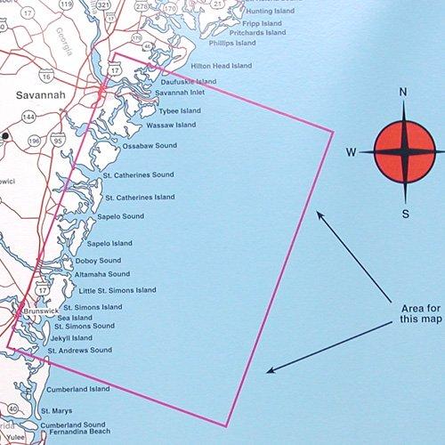 Top spot fishing map n229 georgia offshore brunswick to for Best fishing spots in nj