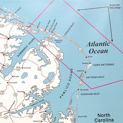 Top Spot Map N243 Oregon Inlet Kitty Hawk Area To
