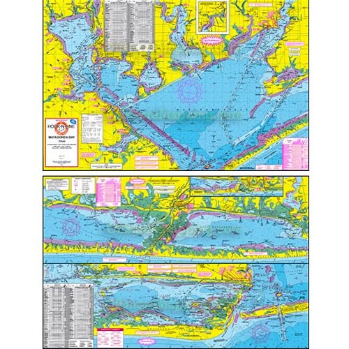 Hook n line fishing map f108 matagorda bay area for Bay area fishing spots