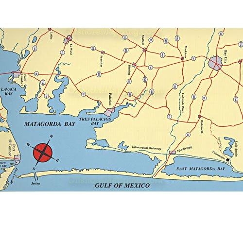 Hook n line fishing map f108 matagorda bay area for Bay area fishing
