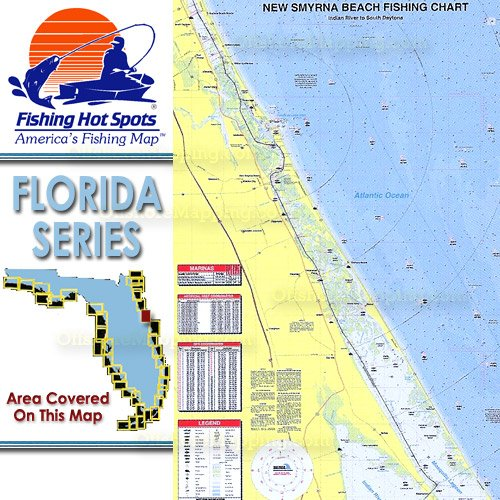 Fl0120 Fishing Hot Spots New Smyrna Beach Indian River To South Daytona