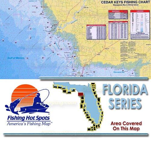 Fl0132 fishing hot spots cedar keys waccasassa bay to for Fishing hot spots