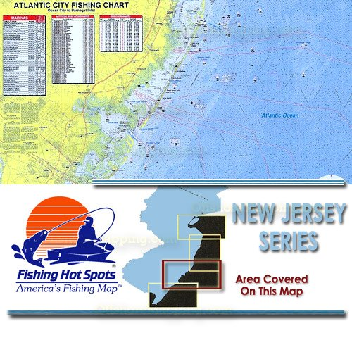 Nj0102 fishing hot spots atlantic city ocean city to for Best saltwater fishing spots in nj
