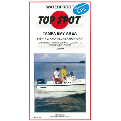 Top spot fishing map n202 tampa bay area for Bay area fishing
