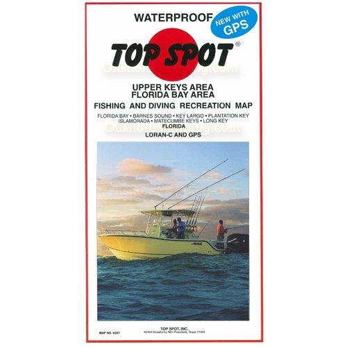 Top spot fishing map n207 florida bay upper keys area for Bay area fishing spots