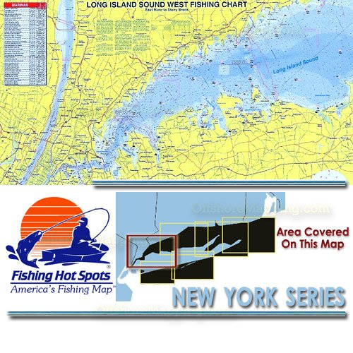 NY Fishing Hot Spots Long Island Sound West - Fishing hotspot maps